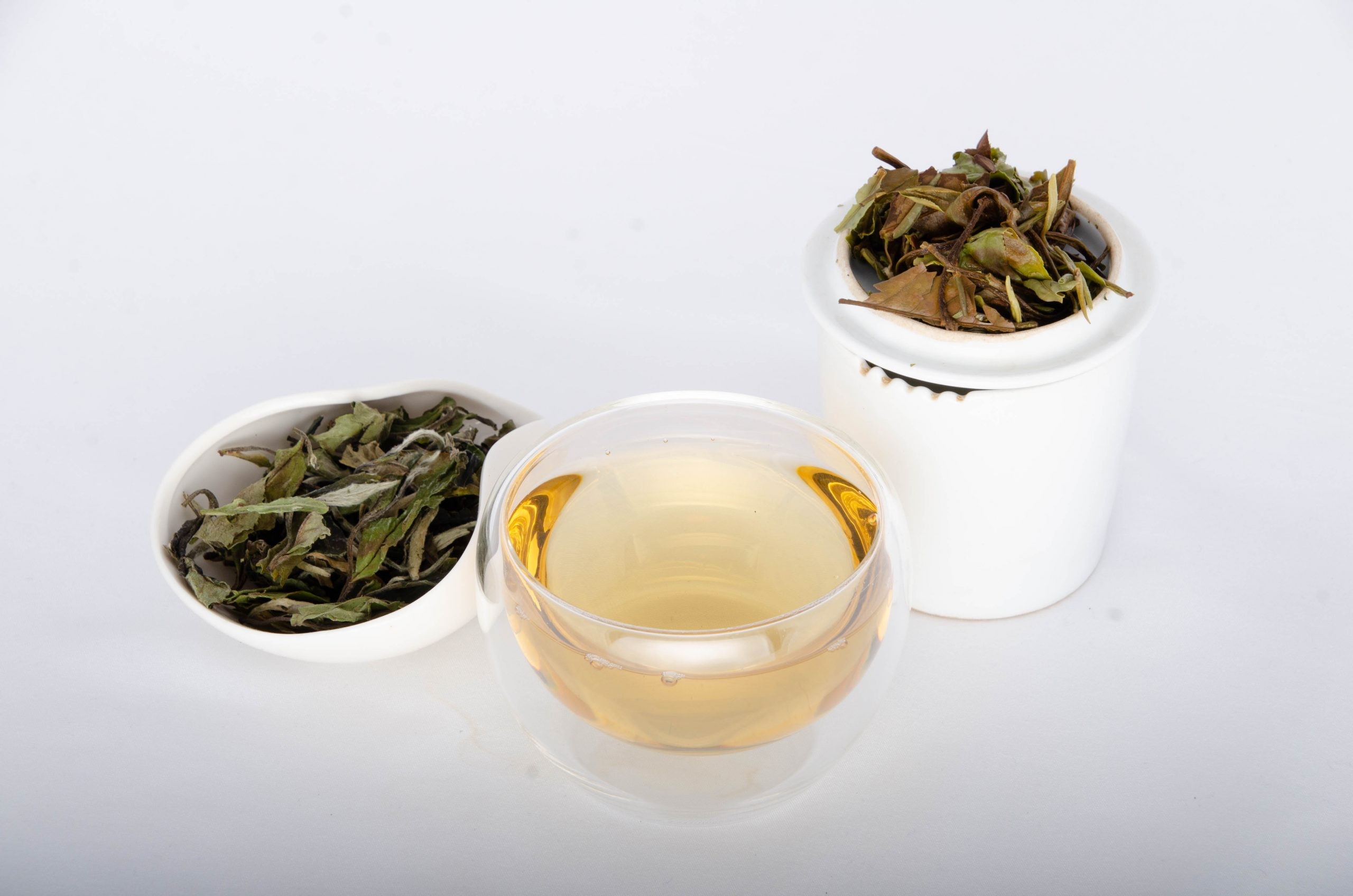 Bai Mu Dan White Tea - JoJo Tea - bud and first two leaves, sun-dried